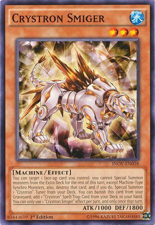 Crystron Prasiortle INOV-EN017 Yu-Gi-Oh Common Card 1st Edition New