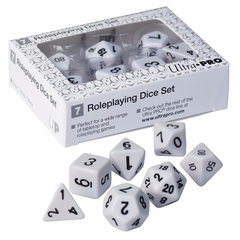 Ultra Pro - Roleplaying Dice Set - White 7Ct (85091)