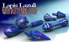 PolyHero Wizard Set - Lapis Lazuli with Glittering Gold