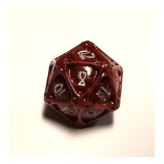 PolyHero - 1d20 Orb - Heartwood with Moonsilver