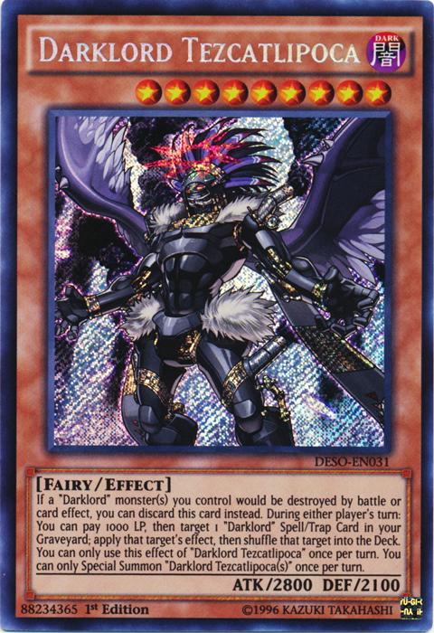 Darklord Tezcatlipoca - DESO-EN031 - Secret Rare - 1st Edition
