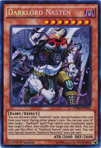 Darklord Nasten - DESO-EN032 - Secret Rare - 1st Edition