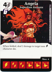 Angela - Asgardian Assassin (Foil) (Die & Card Combo)