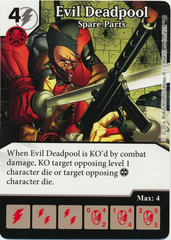 Evil Deadpool - Spare Parts (Foil) (Die & Card Combo)