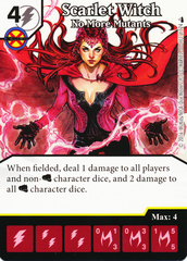 Scarlet Witch - No More Mutants (Die & Card Combo)