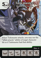 Taskmaster - Watch and Learn (Foil) (Die & Card Combo)