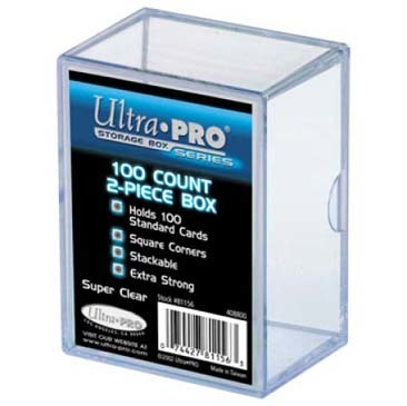 Ultra Pro - 2-Piece 100 Count Clear Card Storage Box