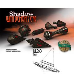 Polyhero Dice: D20 Wizard Hat Promo - Shadow With Demon'S Eye