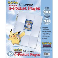 Ultra Pro: Pokemon Pages - 9 Pocket Pages (Bulk Pack Of 10) 84847-Rb