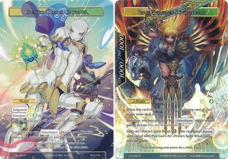 Glorius, Masked Crusader // Faria, Ruler of Divine Beasts - LEL-058 - R - Uber Rare