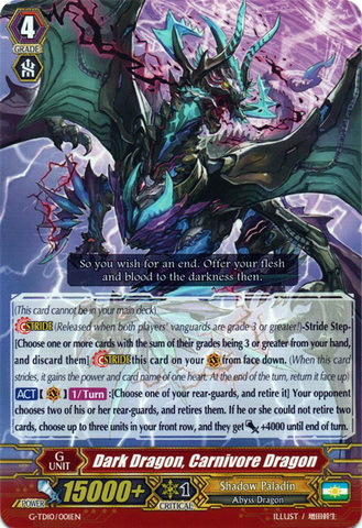 Dark Dragon, Carnivore Dragon - G-TD10/001EN - TD
