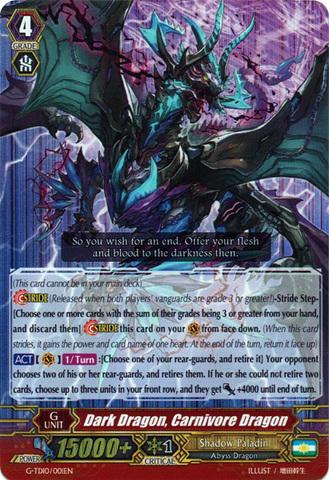Dark Dragon, Carnivore Dragon - G-TD10/001EN - RRR