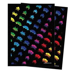 Turn One Gaming - Deck Protectors - Space Invaders Rainbow Attack 50 Count Matte