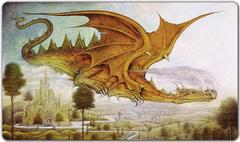 Inked - DRAGON SURVEYING THE LANDSCAPE PLAYMAT