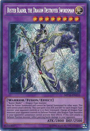 Buster Blader, the Dragon Destroyer Swordsman - MP16-EN210 - Secret Rare - Unlimited Edition
