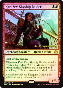 Kari Zev, Skyship Raider (Aether Revolt Prerelease Foil)