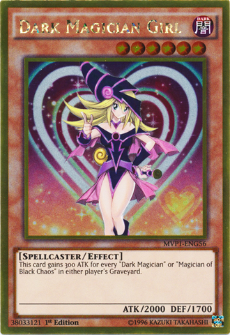 Dark Magician Girl - MVP1-ENG56 - Gold Rare - 1st Edition