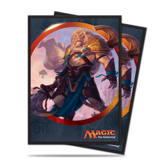 Ajani Unyielding - Ultra Pro - Aether Revolt V1 Standard Deck Protector sleeves for Magic 80ct