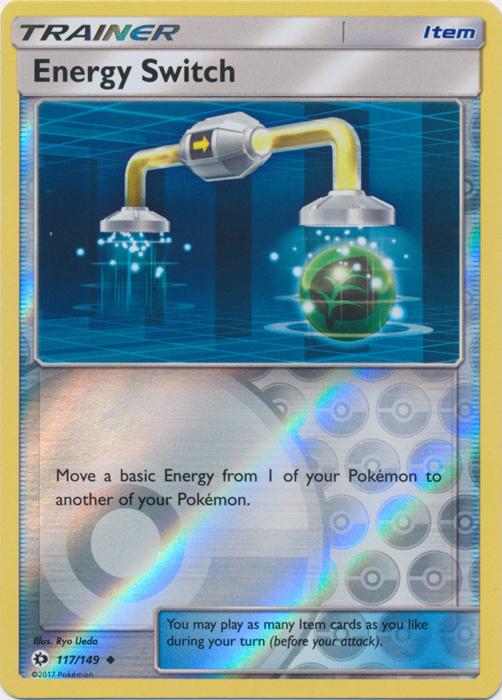 Energy Switch 117//149 Sun /& Moon Base Reverse Holo Mint//NM Pokemon
