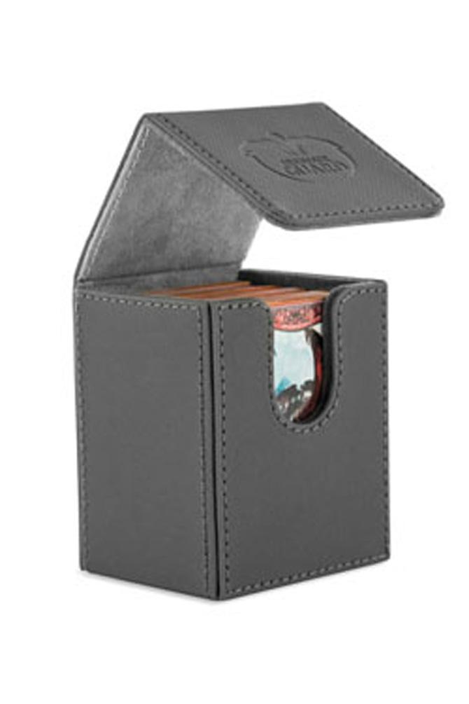 Ultimate Guard - Flip Deck Case 100+ Leatherette Standard Size Grey