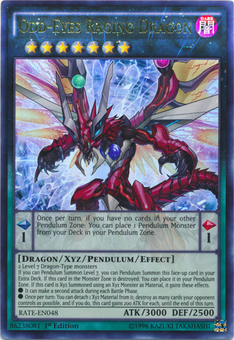 Odd-Eyes Raging Dragon - RATE-EN048 - Ultra Rare - 1st Edition