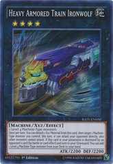 Heavy Armored Train Ironwolf - RATE-EN050 - Super Rare - 1st Edition