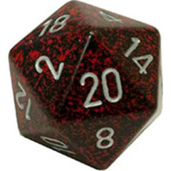 Chessex 34mm Large 20-Sided D20 Speckled Dice (XS2005)