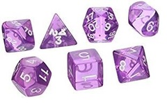 Transparent Polyhedral Orchid/White 10/Set