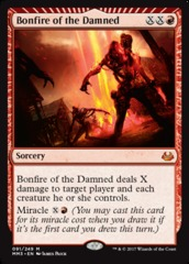 Bonfire of the Damned on Channel Fireball