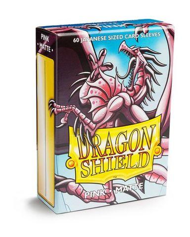 Dragon Shield Matte - Japanese size - Pink - 60 ct