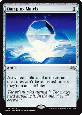 Damping Matrix - Foil