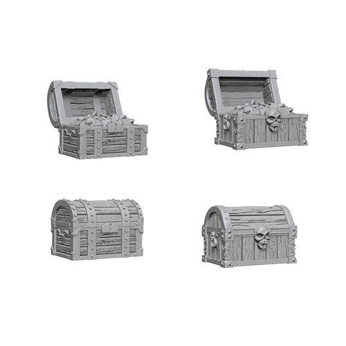 WizKids Deep Cuts Unpainted Miniatures: W2 Chests