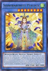 Shinobaroness Peacock - RATE-EN037 - Rare - Unlimited Edition on Channel Fireball