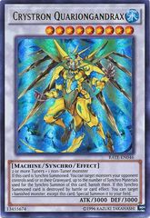 Crystron Quariongandrax - RATE-EN046 - Ultra Rare - Unlimited Edition