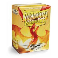 Matte Yellow - Standard Boxed Sleeves (Dragon Shield) - 100 ct