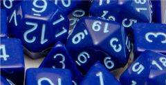 Opaque Dark Blue with Lt Blue Numbers - Set of 15