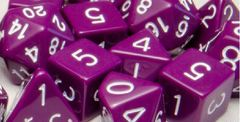 Opaque Dark Purple with White Numbers - Set of 15