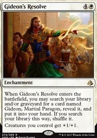 Gideons Resolve - Planeswalker Deck Exclusive