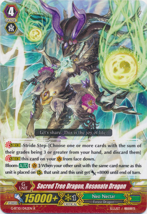 Sacred Tree Dragon, Resonate Dragon - G-BT10/042EN - R