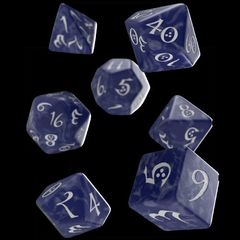 Classic Rpg Dice Set (7) Cobalt And White