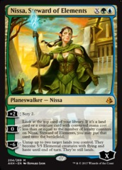Nissa, Steward of Elements - Foil