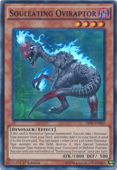 Souleating Oviraptor - SR04-EN002 - Super Rare - 1st Edition