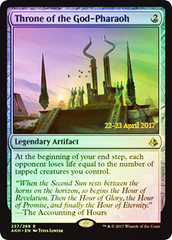 Throne of the God-Pharaoh - Foil - Prerelease Promo