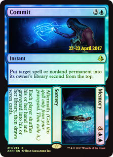 Commit // Memory - Foil - Prerelease Promo