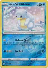 Alolan Sandshrew  - 19/145  - Common - Reverse Holo