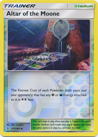 Altar of the Moone  - 117/145  - Uncommon - Reverse Holo