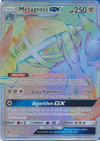 Metagross GX - 157/145 - Secret Rare