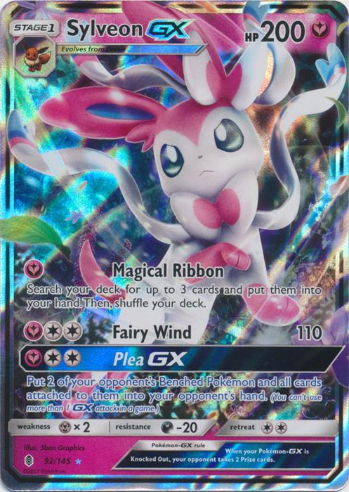 Sylveon GX NM Guardians Rising 92//145 Pokemon TCG