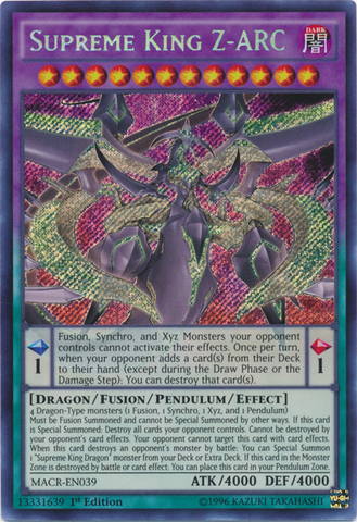 Supreme King Z-ARC - MACR-EN039 - Secret Rare - 1st Edition