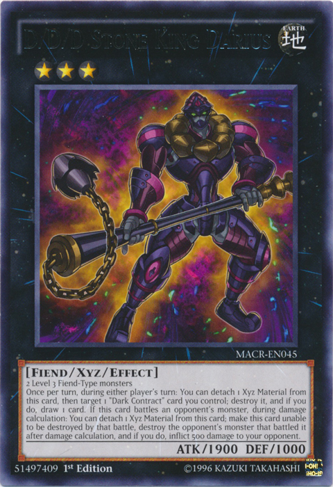 D/D/D Stone King Darius - MACR-EN045 - Rare - 1st Edition